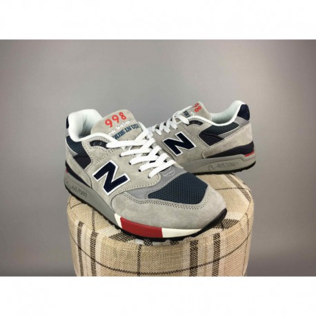 cheap for discount 1515f af767 New Balance 998 Grey Light Blue,New Balance 998GNR Trainers Shoes Light  Grey Navy 36- 44 Pigskin Mens